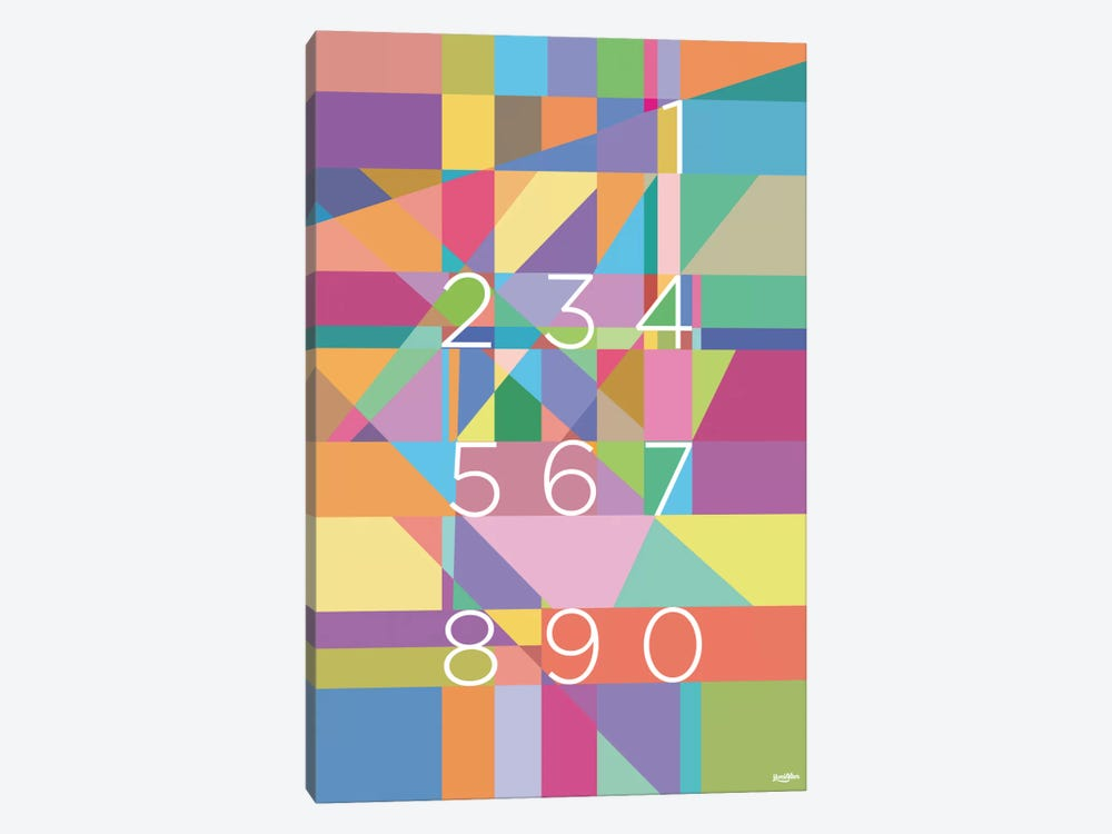 Numbers by Yoni Alter 1-piece Canvas Art Print