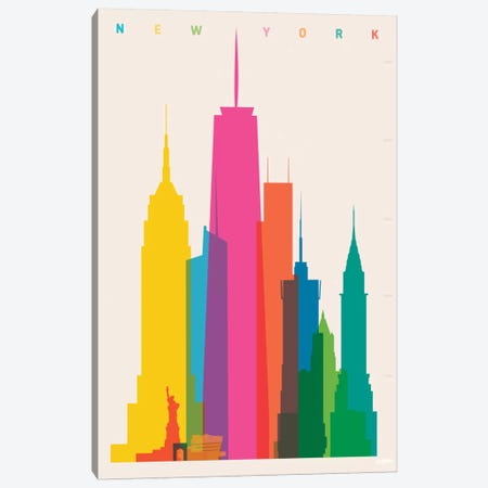 New York City Canvas Print #YAL57} by Yoni Alter Canvas Art Print