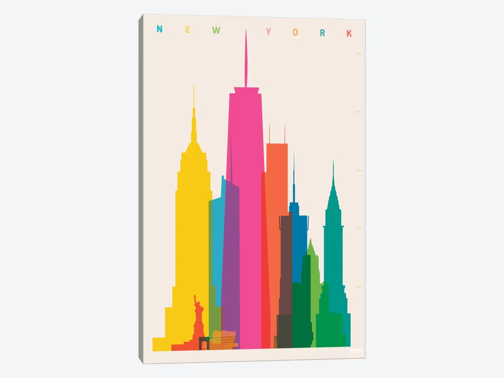 New York City by Yoni Alter 1-piece Canvas Artwork
