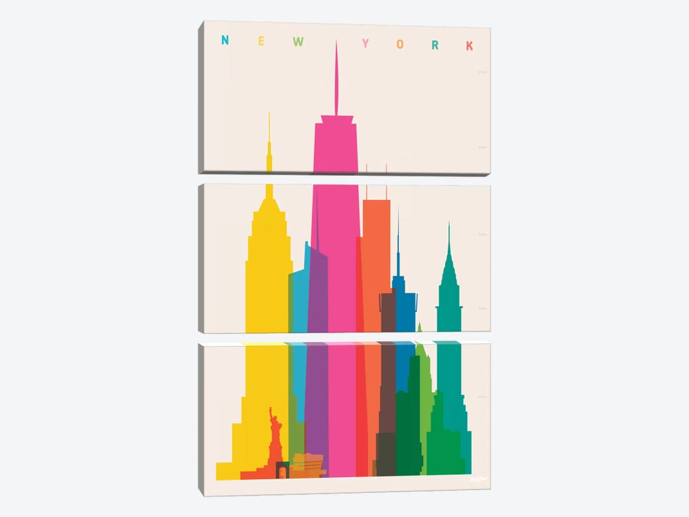 New York City by Yoni Alter 3-piece Canvas Artwork