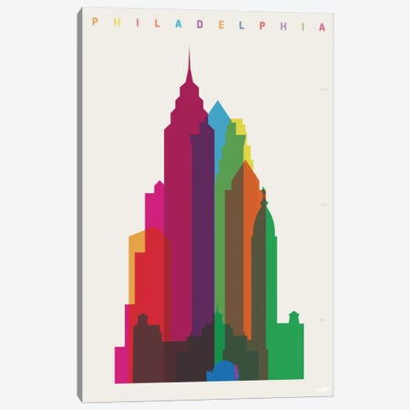 Philadelphia Canvas Print #YAL59} by Yoni Alter Canvas Wall Art