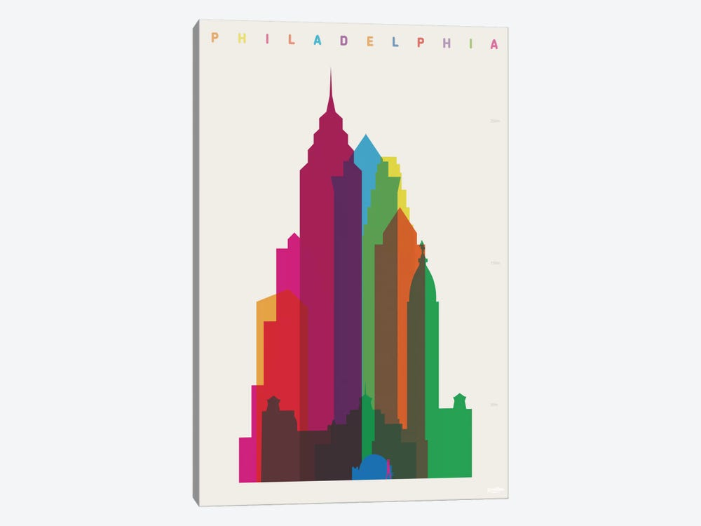 Philadelphia by Yoni Alter 1-piece Canvas Artwork