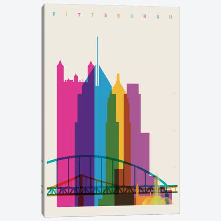 Pittsburgh Canvas Print #YAL60} by Yoni Alter Canvas Print