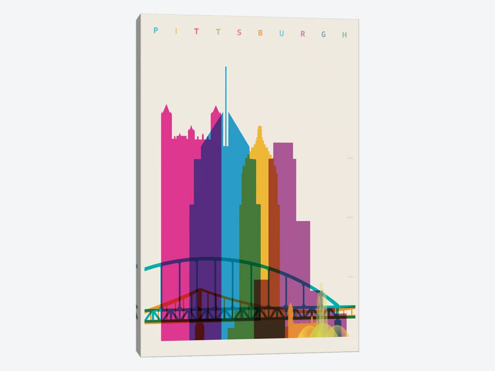 Pittsburgh by Yoni Alter 1-piece Canvas Art