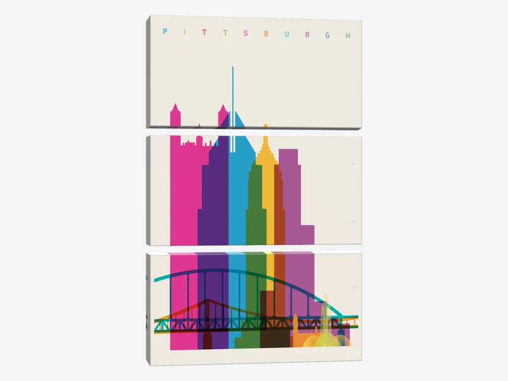Pittsburgh by Yoni Alter 3-piece Canvas Art