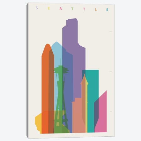Seattle Canvas Print #YAL61} by Yoni Alter Canvas Art Print