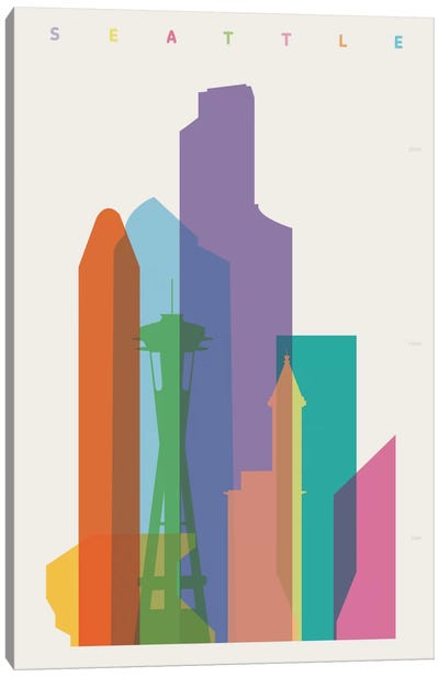 Seattle Canvas Art Print