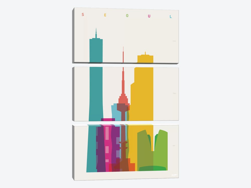 Seoul by Yoni Alter 3-piece Canvas Artwork