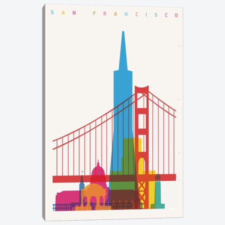San Francisco Canvas Print #YAL63} by Yoni Alter Art Print