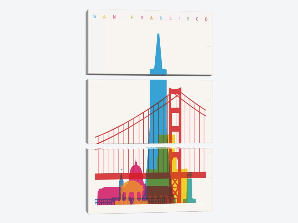 San Francisco by Yoni Alter 3-piece Art Print