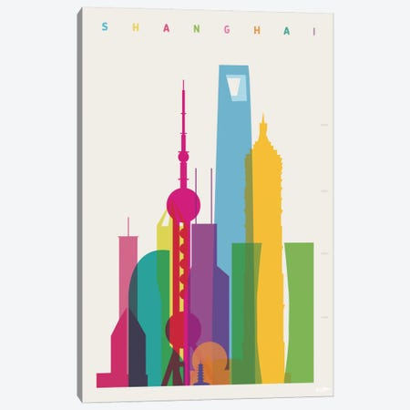 Shanghai Canvas Print #YAL64} by Yoni Alter Canvas Artwork
