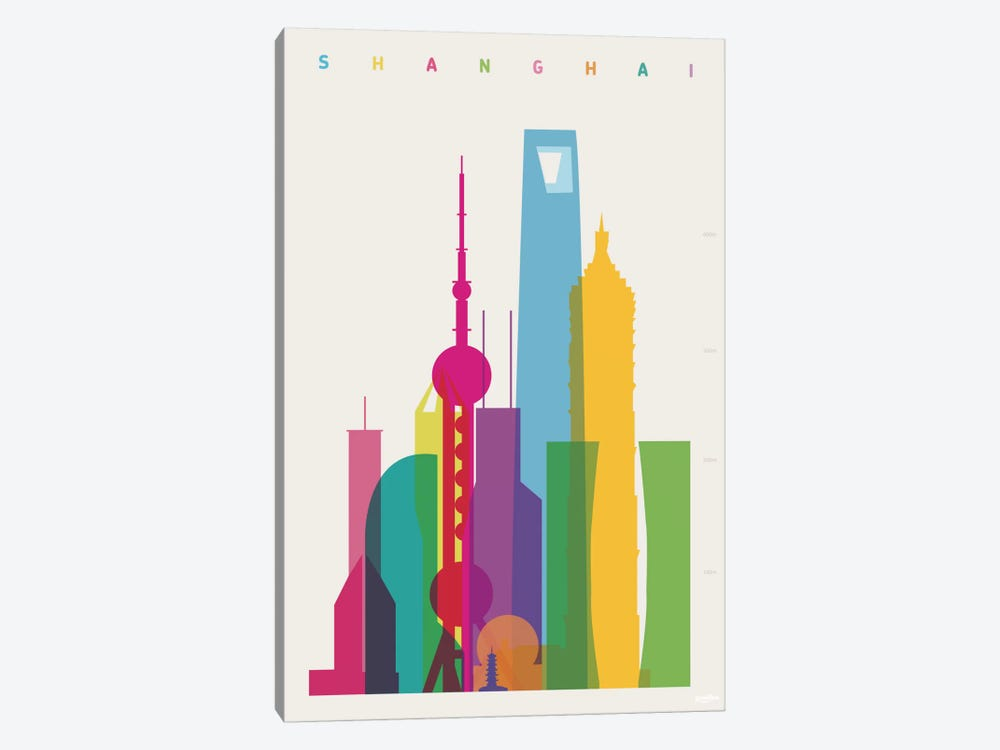 Shanghai by Yoni Alter 1-piece Canvas Artwork