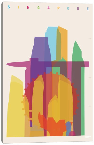 Singapore Canvas Art Print