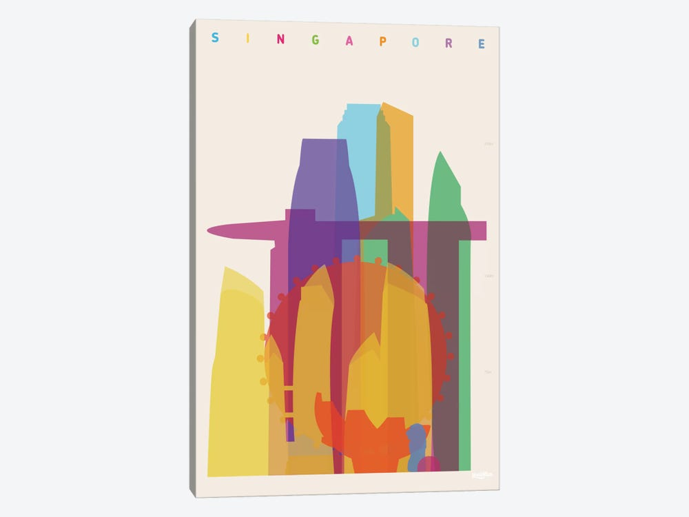 Singapore by Yoni Alter 1-piece Canvas Print