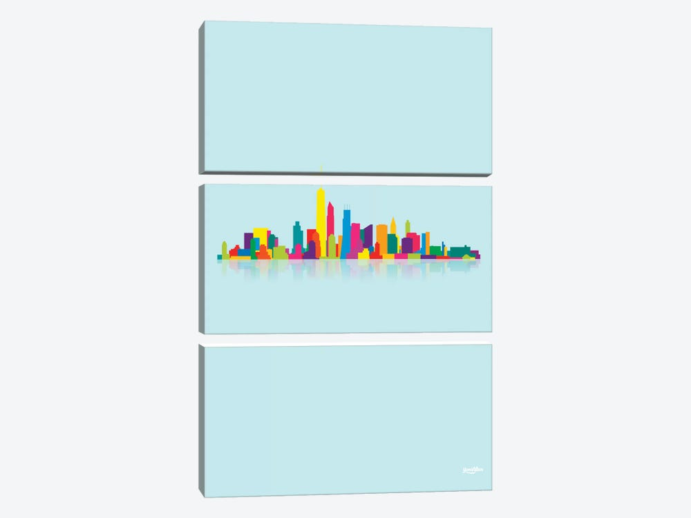 Skyline by Yoni Alter 3-piece Canvas Artwork