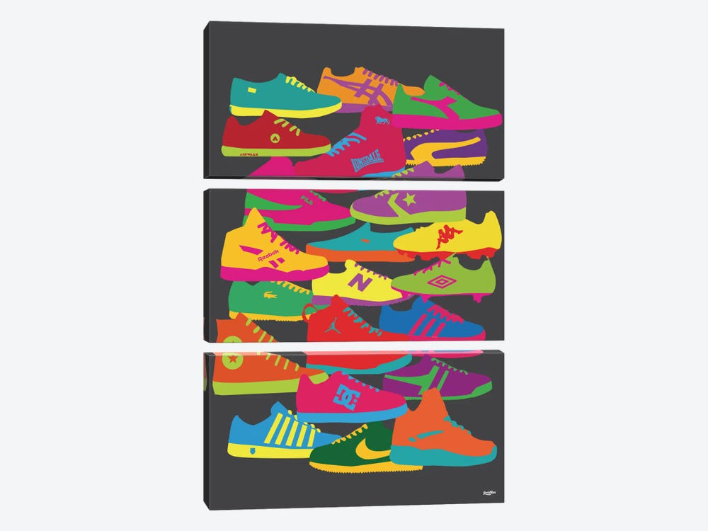 Sneakers by Yoni Alter 3-piece Canvas Artwork