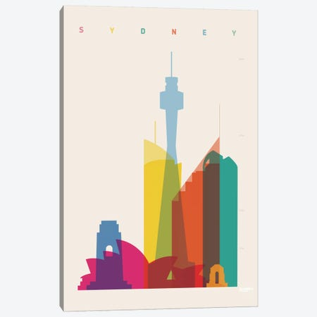Sydney Canvas Print #YAL70} by Yoni Alter Canvas Wall Art