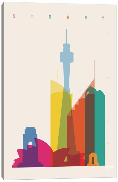 Sydney Canvas Art Print
