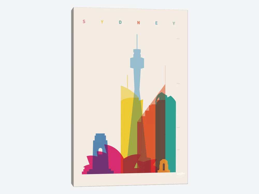 Sydney by Yoni Alter 1-piece Canvas Print