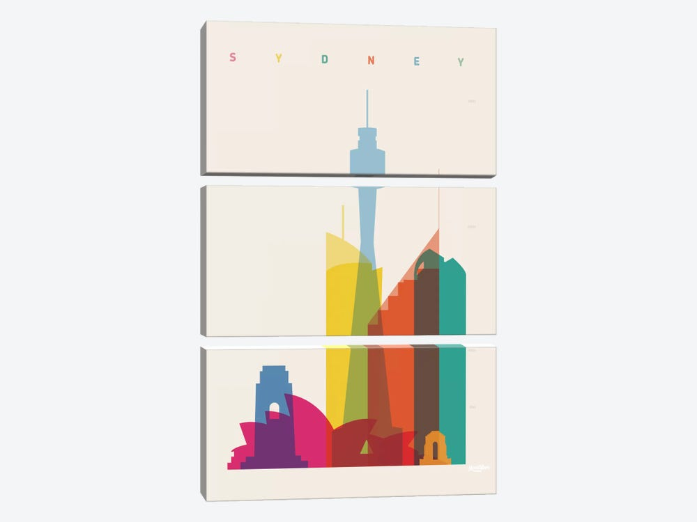 Sydney by Yoni Alter 3-piece Canvas Print