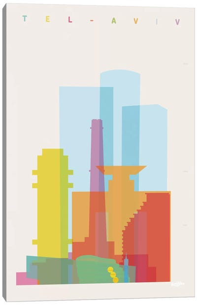 Tel-Aviv Canvas Art Print