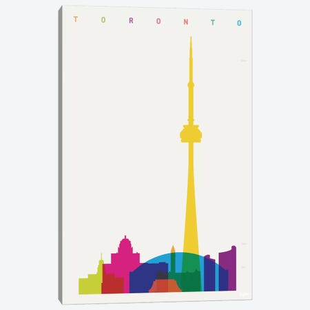 Toronto Canvas Print #YAL73} by Yoni Alter Canvas Artwork
