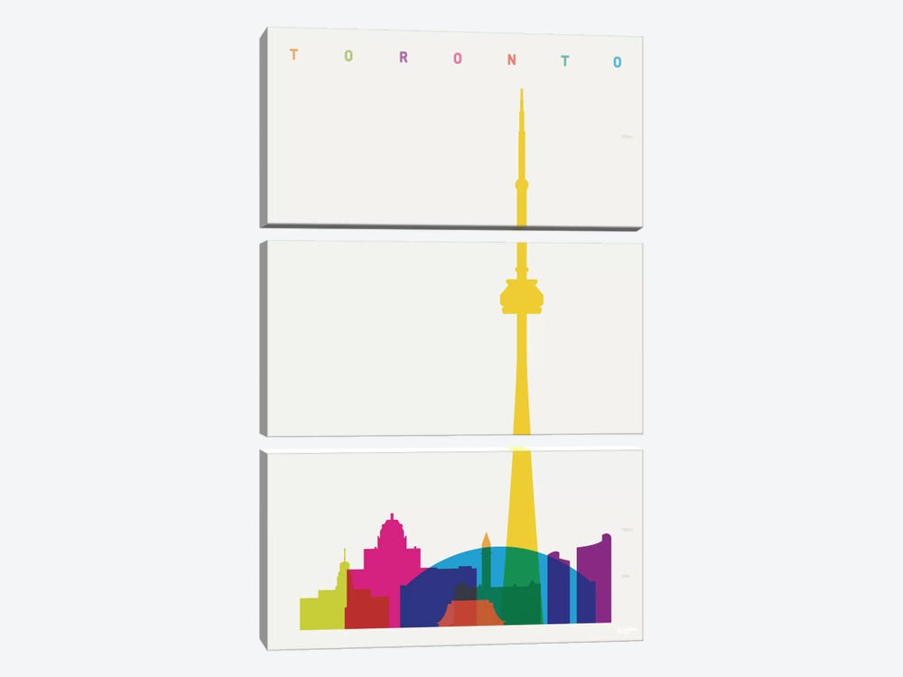 Toronto by Yoni Alter 3-piece Canvas Wall Art