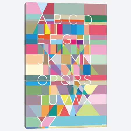 Type Canvas Print #YAL75} by Yoni Alter Art Print