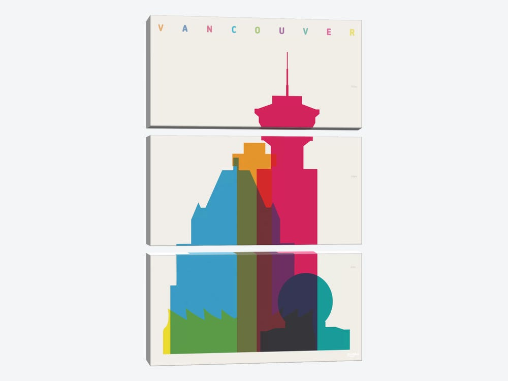 Vancouver by Yoni Alter 3-piece Canvas Art Print