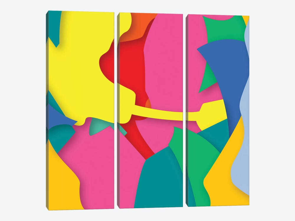 Abstract II by Yoni Alter 3-piece Canvas Art