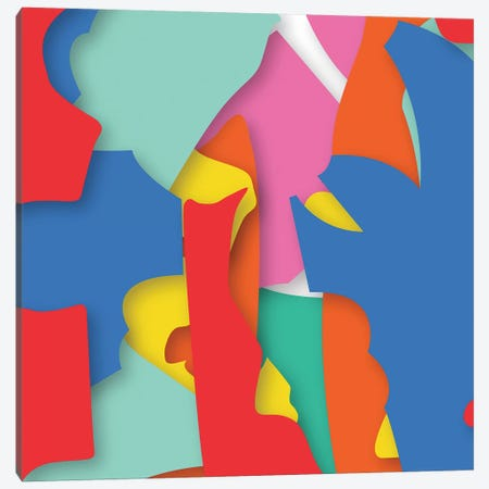 Abstract V Canvas Print #YAL87} by Yoni Alter Canvas Artwork