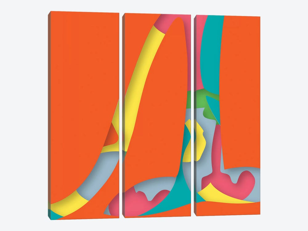 Abstract VI by Yoni Alter 3-piece Canvas Artwork
