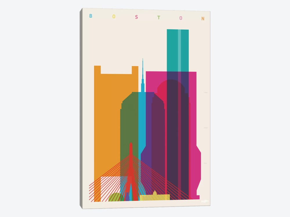 Boston by Yoni Alter 1-piece Canvas Art Print