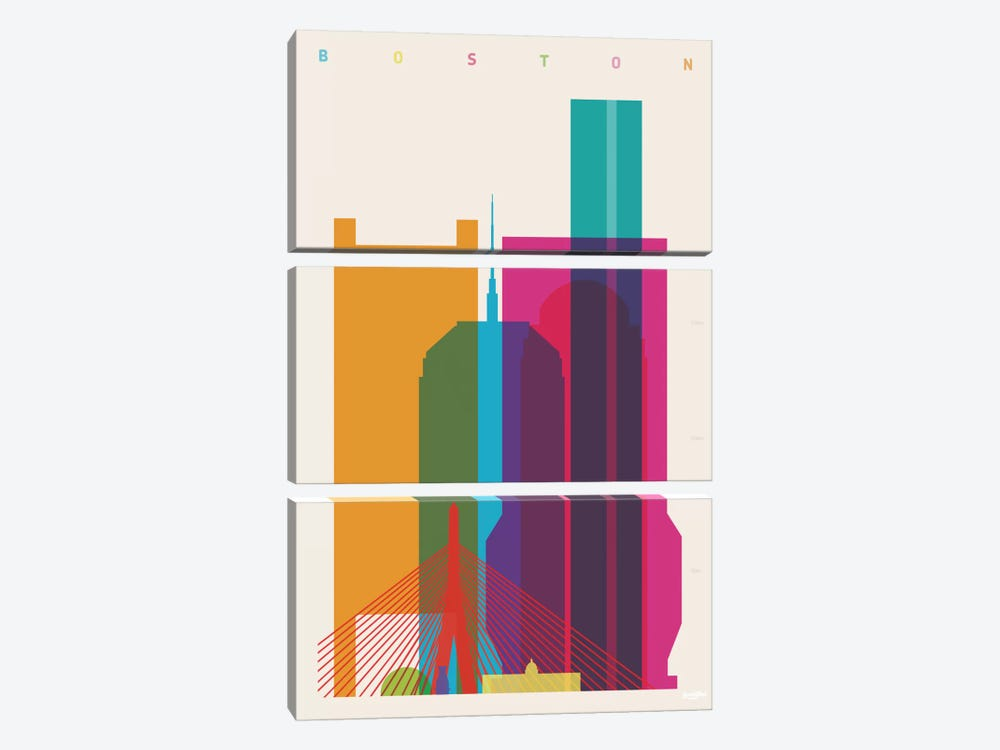 Boston by Yoni Alter 3-piece Art Print