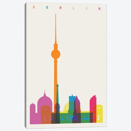 Berlin Canvas Print #YAL93} by Yoni Alter Canvas Art