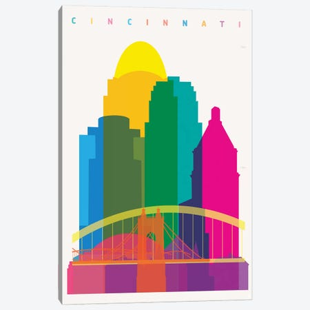 Cincinnati Canvas Print #YAL97} by Yoni Alter Canvas Art Print