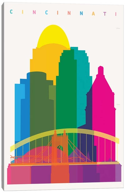 Cincinnati Canvas Art Print