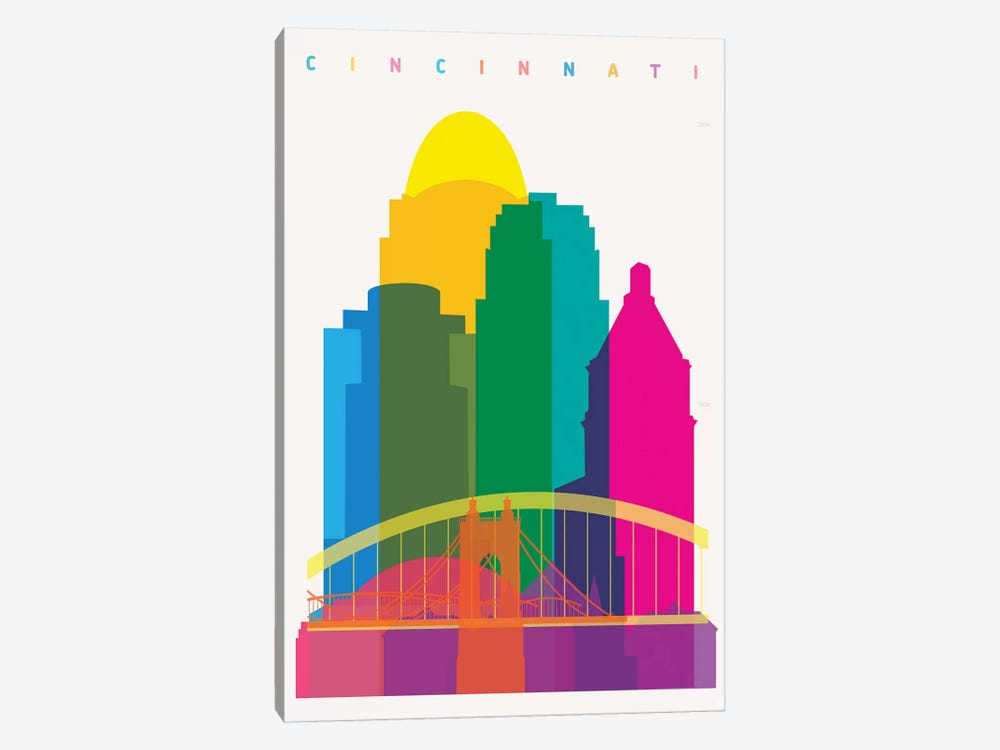 Cincinnati 1-piece Canvas Art