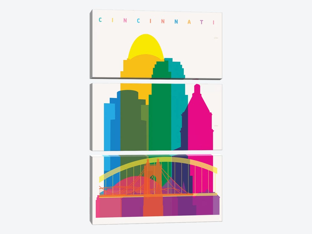 Cincinnati 3-piece Canvas Art