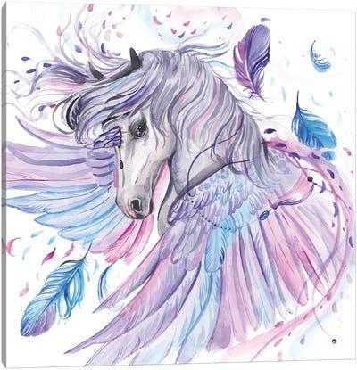 Pegasus-Unicorn With Wings Canvas Art Print