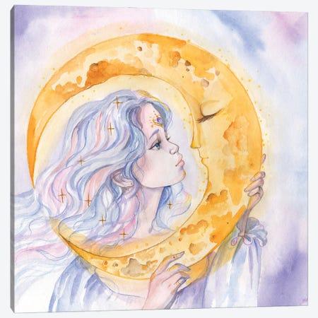 Moon Goddess And Moon Canvas Print #YAN42} by Yana Anikina Canvas Print