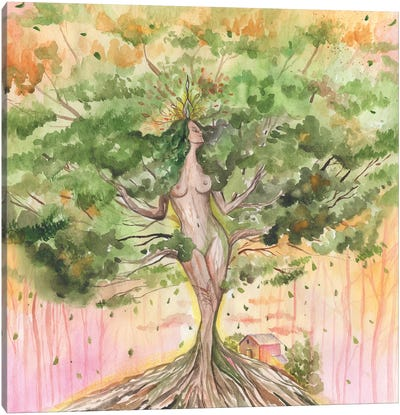 Goddess Tree Or Mother Nature Canvas Art Print