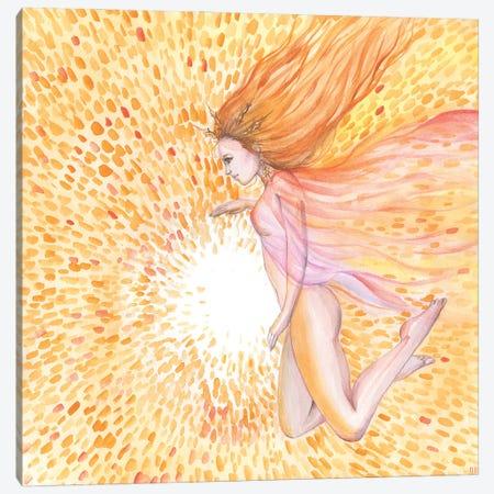 Sun Goddess And Sun Canvas Print #YAN52} by Yana Anikina Canvas Artwork