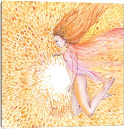 Sun Goddess And Sun Canvas Art Print