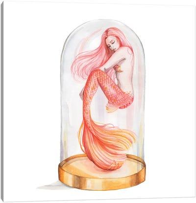 Orange Mermaid Canvas Art Print