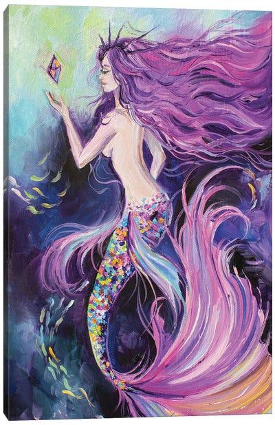 Purple Mermaid Canvas Art Print