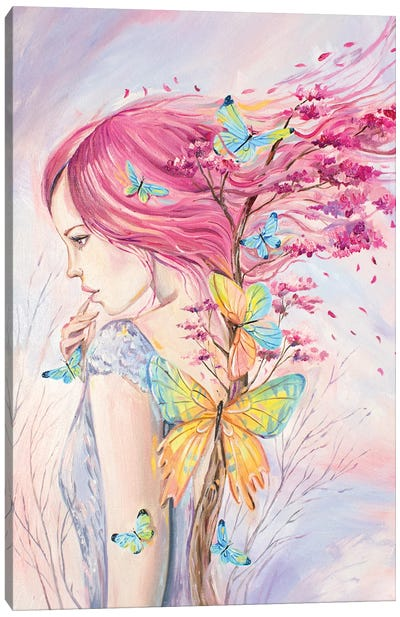 Woman And Blooming Tree Of Life Canvas Art Print