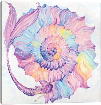 Mermaid And Rainbow Shell Canvas Art Print