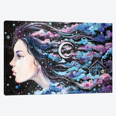 Moon Woman Canvas Print #YAN74} by Yana Anikina Canvas Print