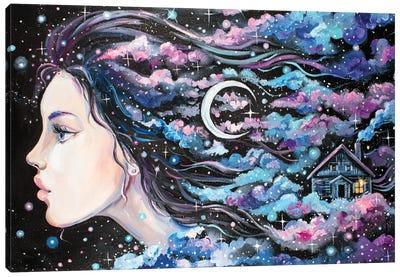 Moon Woman Canvas Art Print